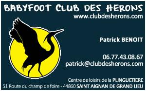 CARTES DE VISITE POUR LE BABYFOOT CLUB DES HERONS